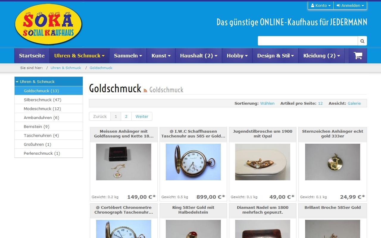 Sozialkaufhaus Fürth Onlineshop Pixogram Internetagentur